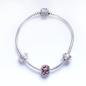 Pandora NWOT LOVE theme Charm Bracelet